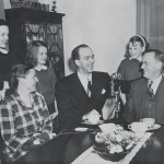 "The family on the Bill Herson Radio Show ""Coffee to Congress"" (NBC), 1947"