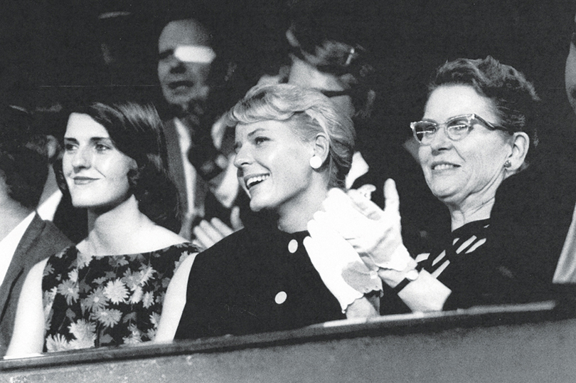 Miriam with daughters Ellie (center) and Carolyn (left) at Walter's Keynote Address at the Republican Convention, 1960