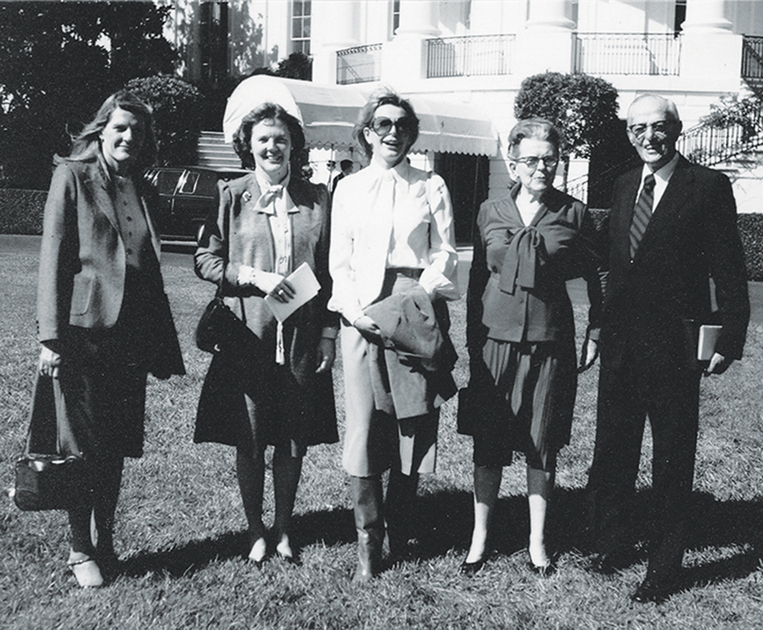 The Judd Family in front of the White House, 1981