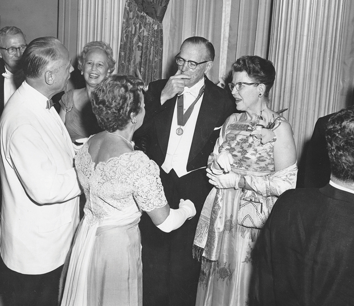 Walter and Miriam at a Presidential reception after Walter received the American Medical Association Distinguished Service Award, 1968